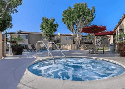 Sparkling Jacuzzi Spa Pool near Swimming Pool